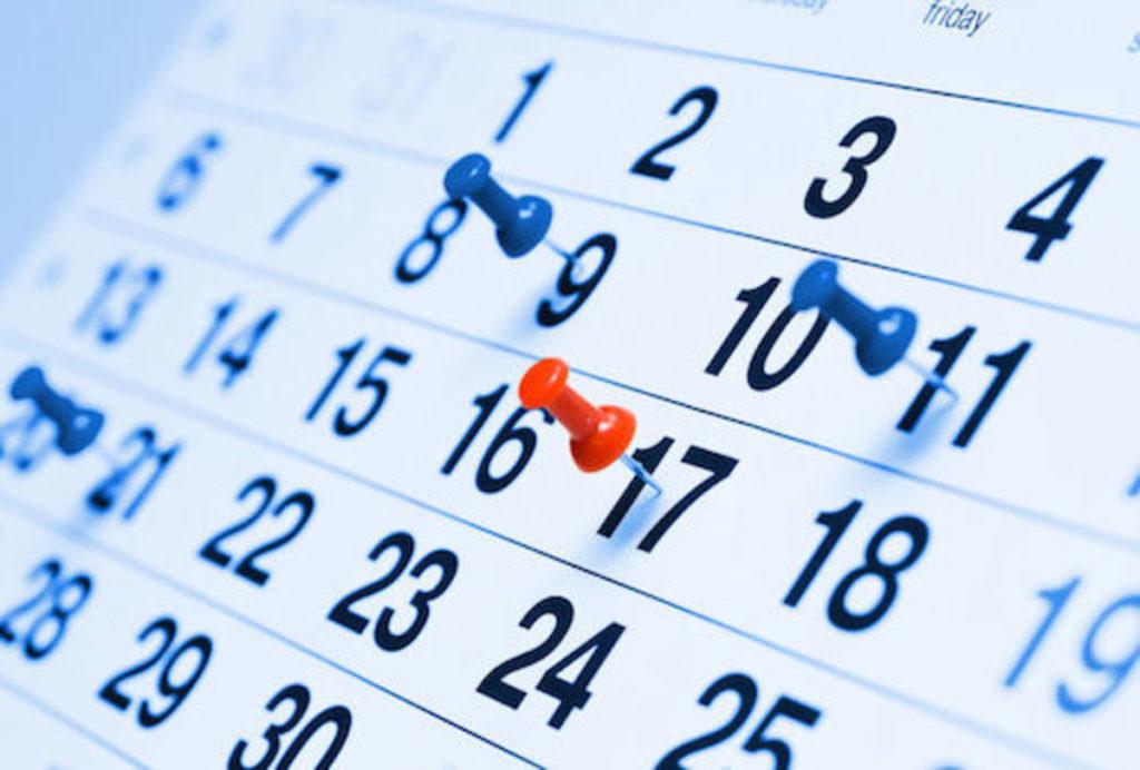 Nástěnný kalendář detail